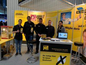 Mitarbeiter der DLC Halle bei der Jobmesse